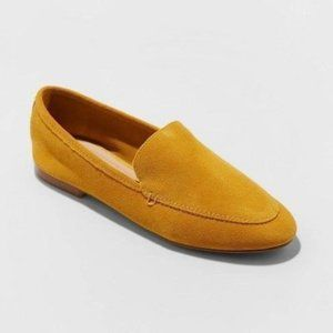 A NEW DAY Mila Yellow Suede Loafers